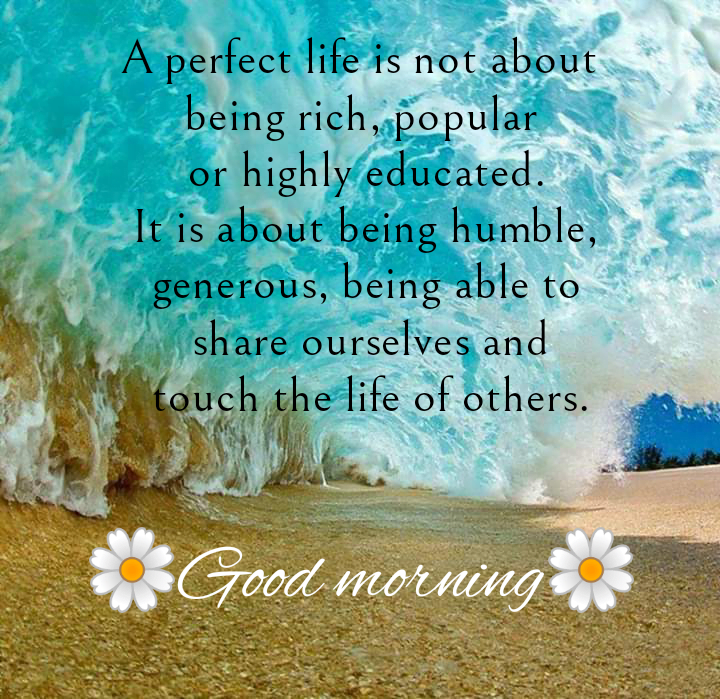 Under wave image, Good morning best quotes.