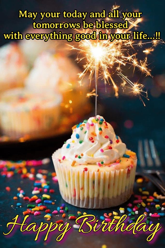 Firecracker in cupcake, Birthday wishes for kids.