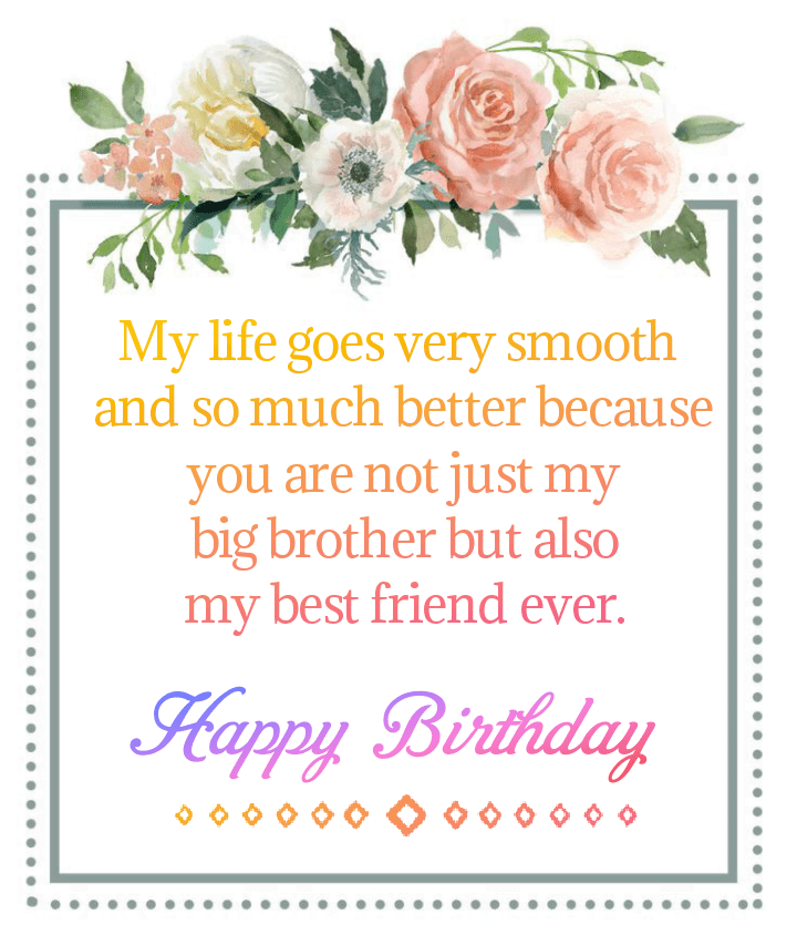 Message on paper and flower, Happy birthday friend.