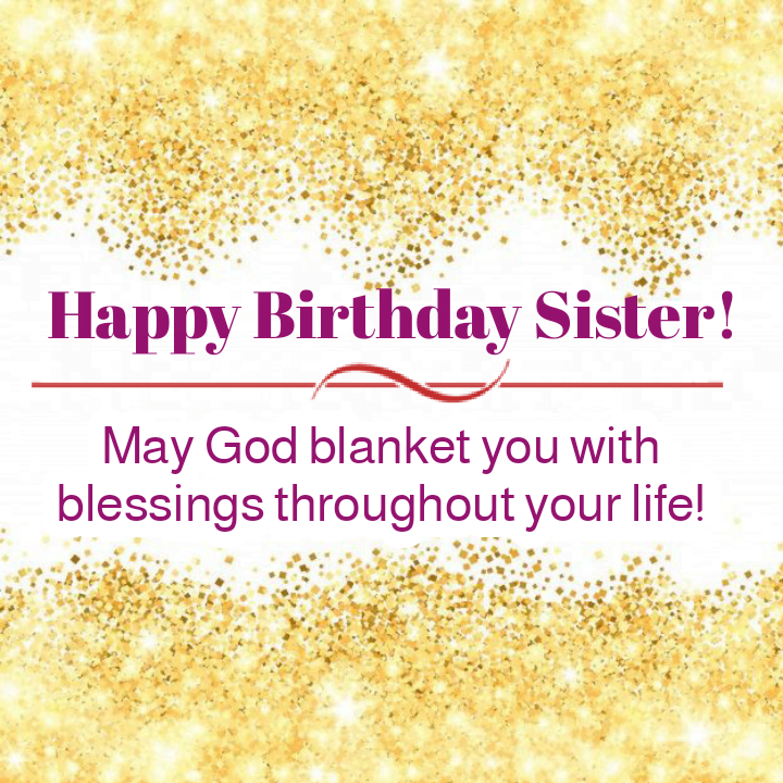 Birthday message with round particles in background, Birthday wishes for sister.