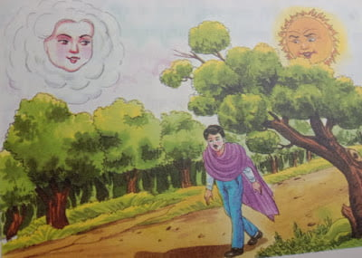 Man walking on road in jungle, Moral stories for kids.