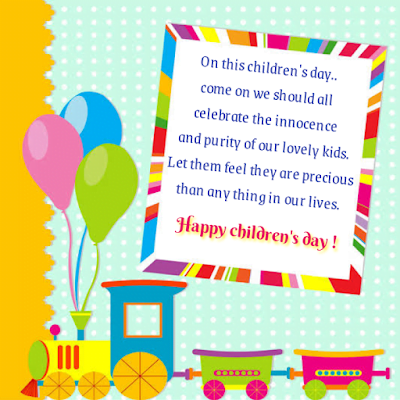 Balloons and kids train image, Children's day.