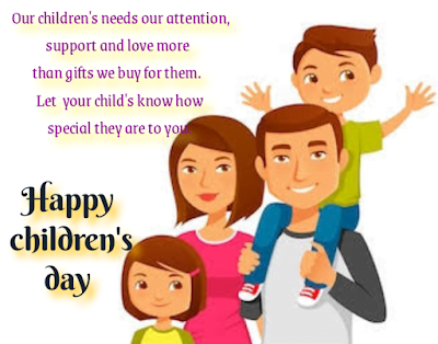 Parents with boy and girl, Children's day.