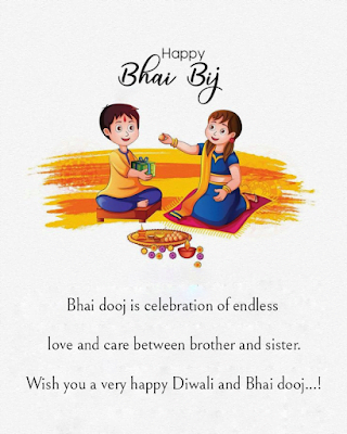 Kids brother and sister on Bhaiduj, Diwali wishes.