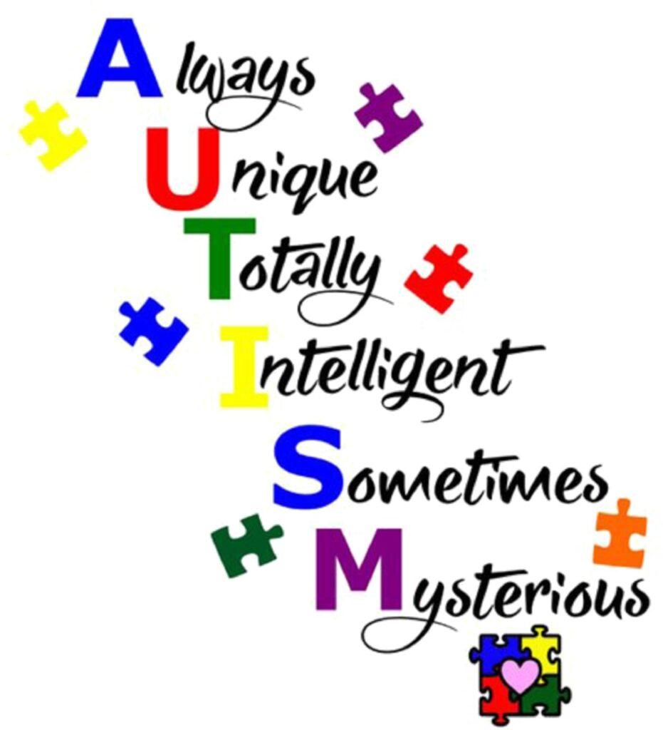 Autism awareness message, Autism awareness day.