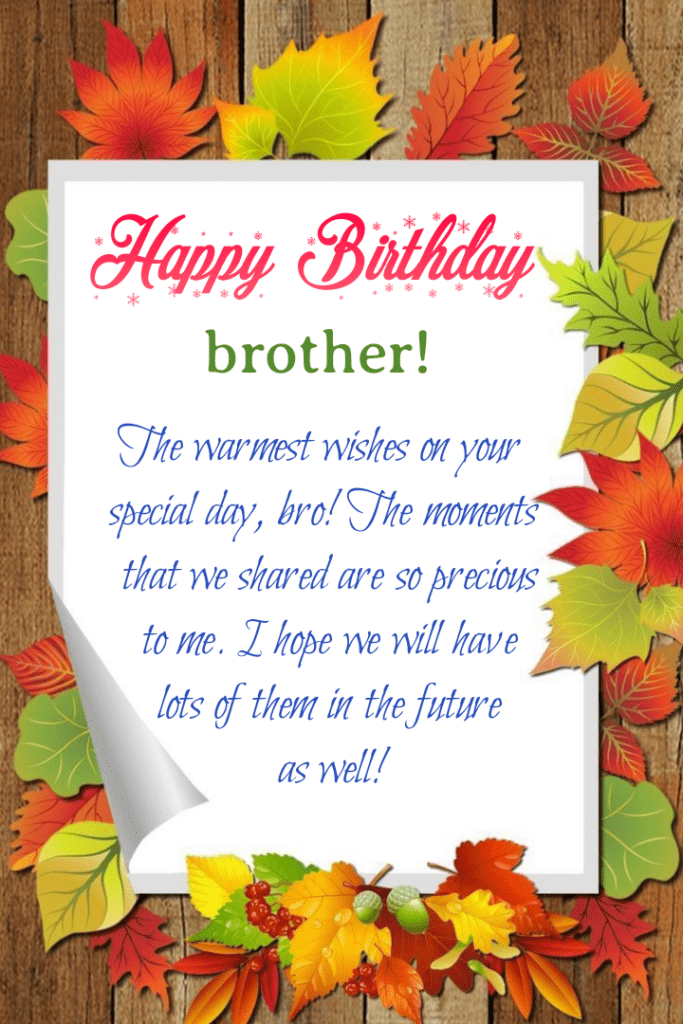 Happy Birthday brother on card, Happy birthday brother.